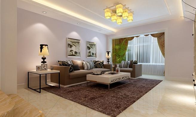 三居 欧式 小资 收纳 客厅图片来自武汉实创装饰在全民见证,100平融侨城美居的分享