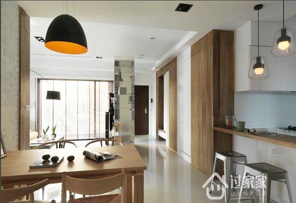 简约 二居 80后 小资 餐厅图片来自过家家装饰在两居室 疗愈自然的放松空间的分享