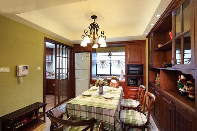 田园 二居 三居 混搭 旧房改造 80后 美式风格 上海装修 餐厅图片来自上海实创-装修设计效果图在上海150平米乡村美式风格的分享