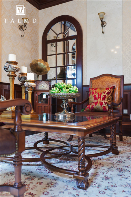新中式 四居室 家具定制 整屋定制 旧房改造 客厅图片来自TALMD图迈家居在【TALMD案例】新中式·奥体紫薇园的分享