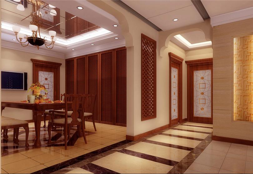三居 白领 收纳 80后 小资 玄关图片来自实创装饰完美家装在时代龙和大道140平三居新古典风的分享