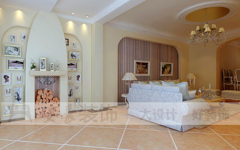 混搭 白领 80后 小资 客厅图片来自安豪装饰在科大花园的分享