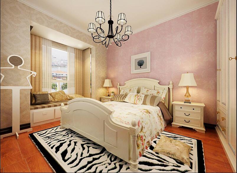 简约 欧式 三居 混搭 田园 白领 80后 英伦城邦 卧室图片来自成都V2装饰在欧式粉嘟嘟可爱的分享