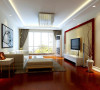 升龙又一城 90平两居室 现代简约风格 装修设计案例 效果图-客厅