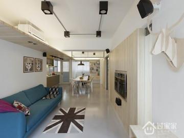 60平清爽舒适北欧风格旧房改造