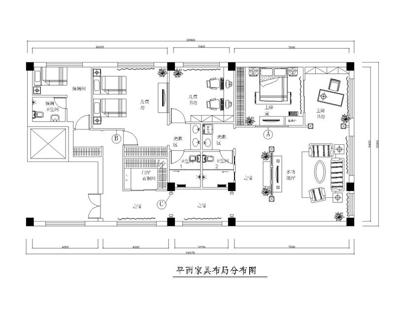 欧式 别墅 白领 收纳 80后 小资 户型图图片来自实创装饰完美家装在辉煌国际广场210平四居欧式古典的分享
