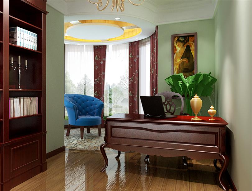 三居 白领 收纳 80后 小资 书房图片来自实创装饰完美家装在滨河临镜苑二期150平三居美式风的分享