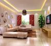 康桥金域上郡 117平三居室 现代简约风格 婚房装修案例 效果图-客厅