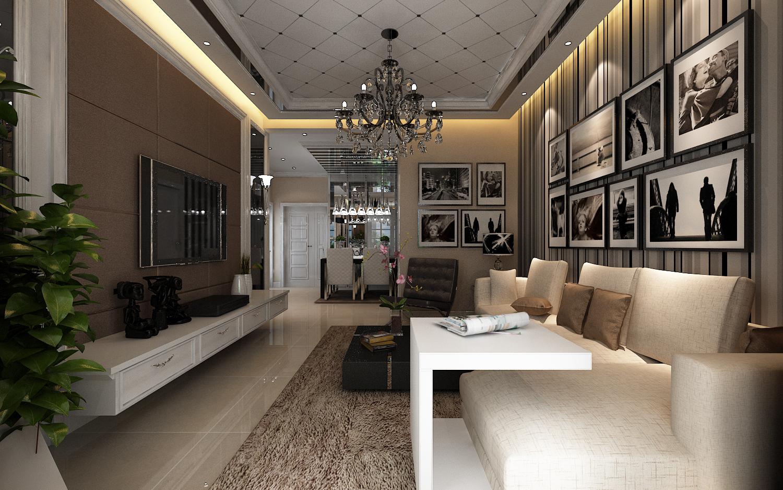 鑫苑现代城 79平米 两居室 现代简约风 装修设计 客厅图片来自郑州实创-整套家装在鑫苑现代城两居室简约风格设计的分享