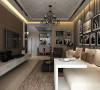鑫苑现代城 两居室 79平米 简约风格 设计案例效果图--客厅
