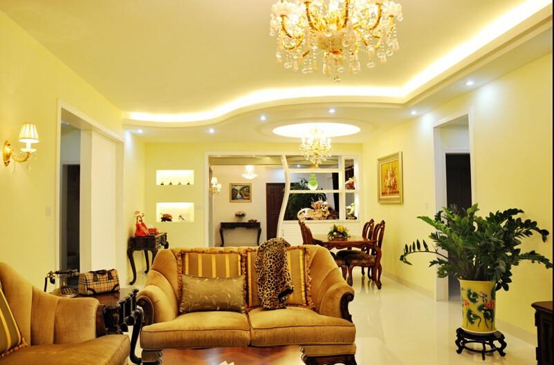 简约 欧式 三居 白领 80后 小资 客厅图片来自成都V2装饰在现代简约欧式风格的分享