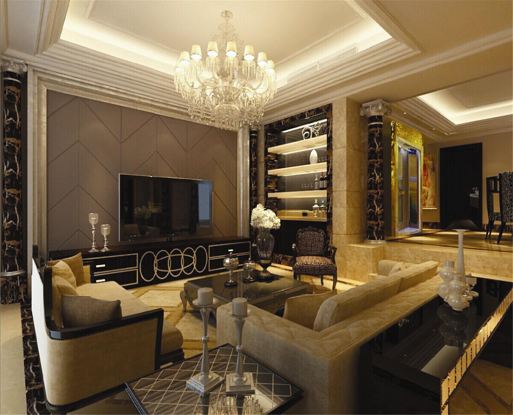 皇都花园 别墅装修 别墅设计 欧式古典 腾龙设计 客厅图片来自腾龙设计在皇都花园别墅装修欧式风格设计的分享