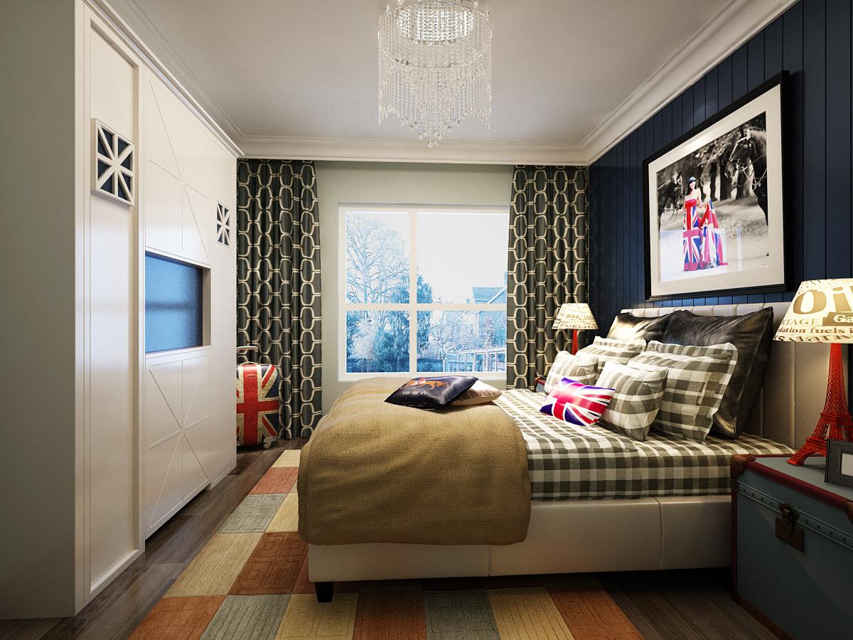 卧室图片来自广州实创装饰朱建芳在岭南雅筑116平田园风格的分享