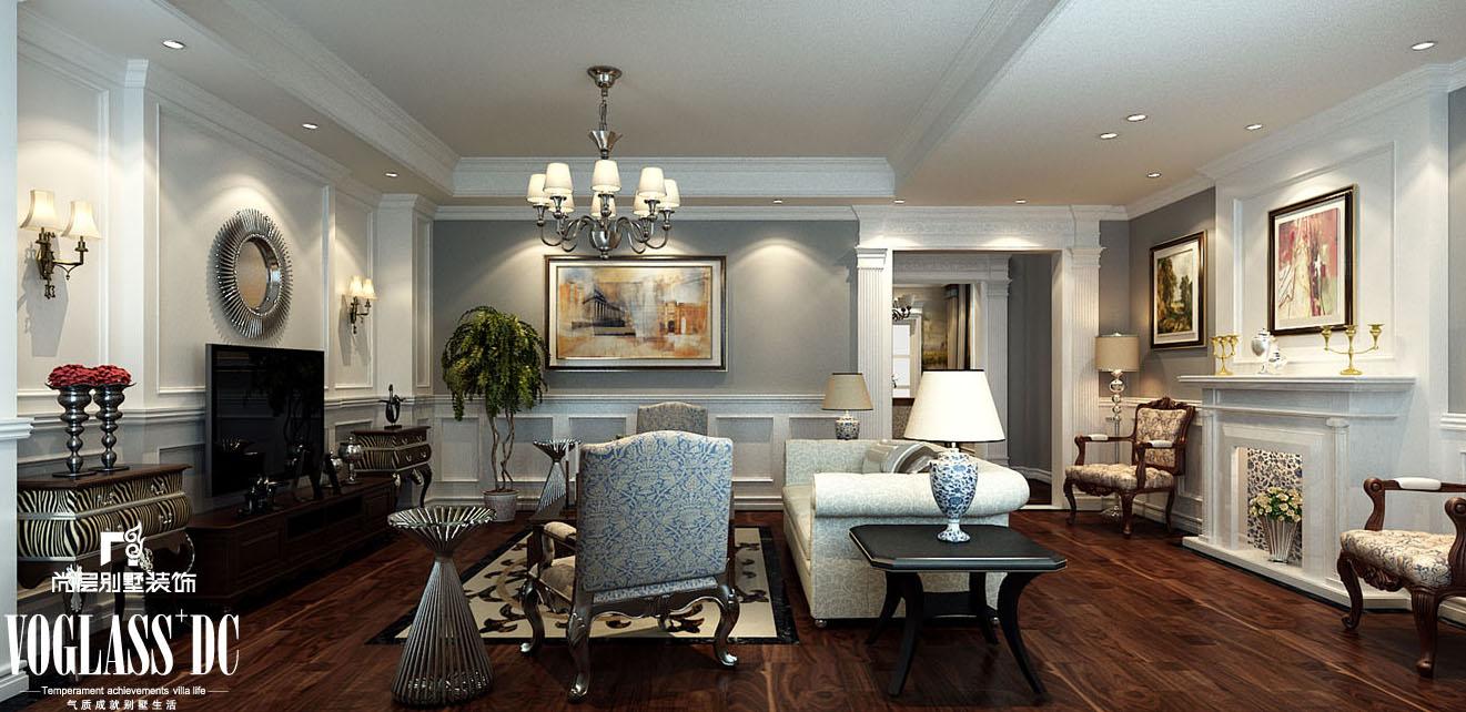 欧式 别墅 天津尚层 客厅图片来自Spencer丶nuzzi在复地温莎堡的分享