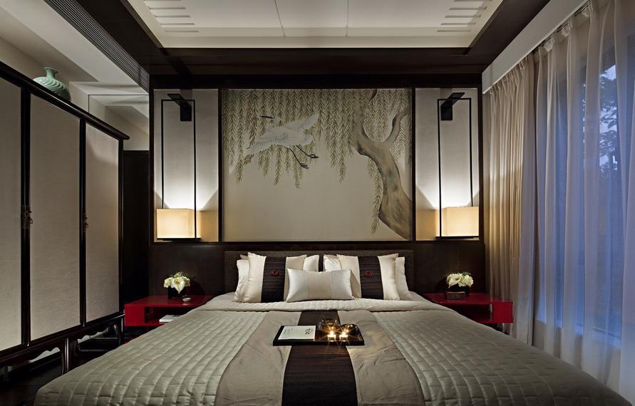 三居 中式 收纳 卧室图片来自武汉实创装饰在顶琇国际公馆109平中式三居的分享