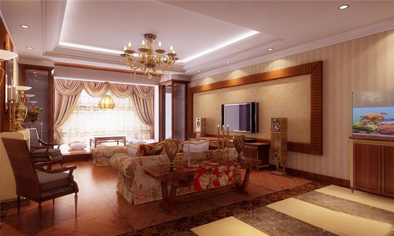 三居 白领 收纳 80后 小资 客厅图片来自实创装饰完美家装在时代龙和大道140平三居新古典风的分享