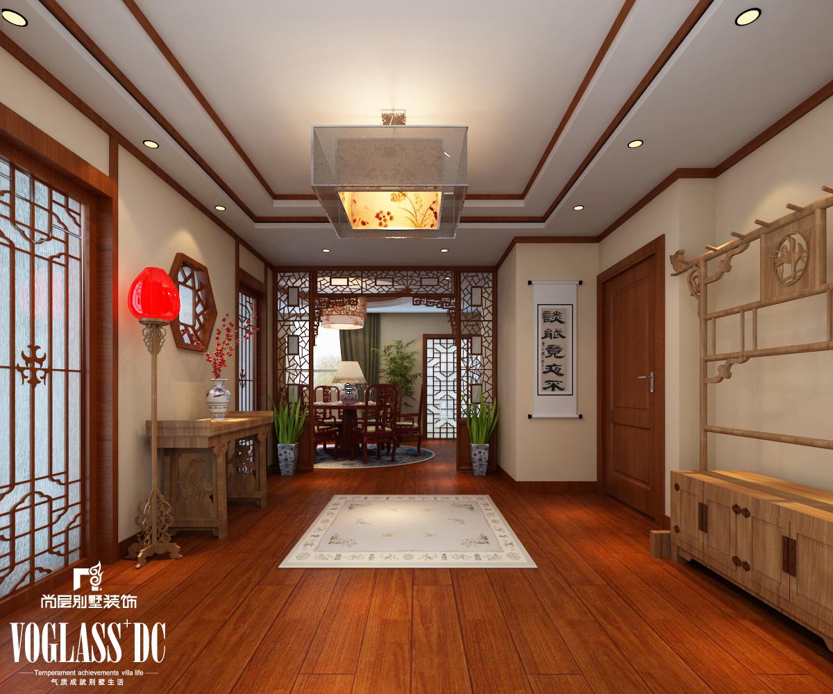 别墅 混搭 中式 天津尚层 玄关图片来自Spencer丶nuzzi在博轩园别墅的分享