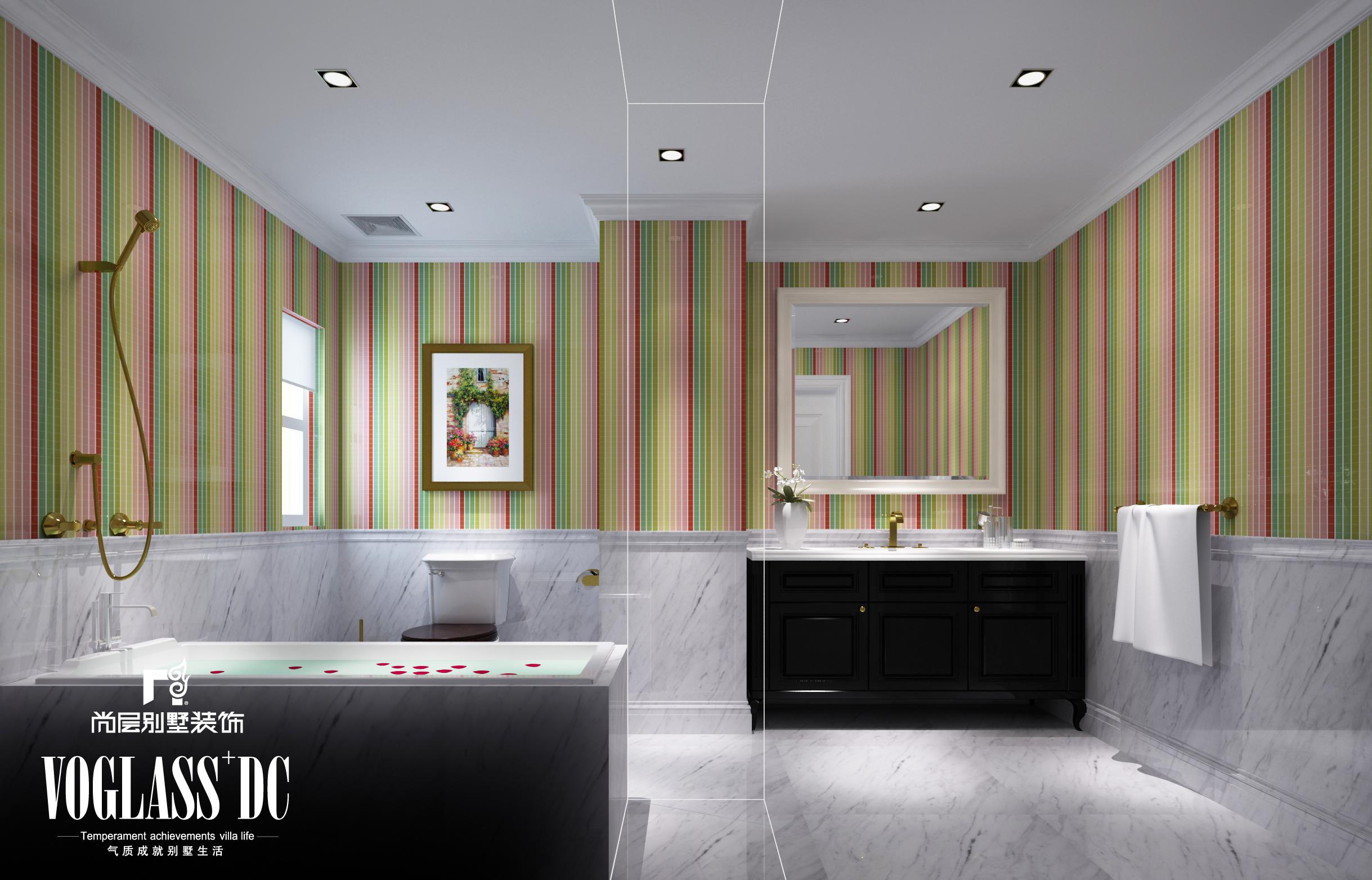 别墅 混搭 中式 天津尚层 卫生间图片来自Spencer丶nuzzi在博轩园别墅的分享