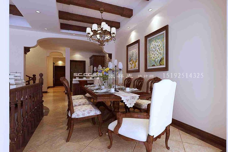 别墅 美式 实创 餐厅图片来自快乐彩在别墅喜山美式乡村装修的分享
