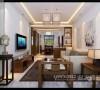 阳光汾河湾101平新中式风格装修效果图——太原业之峰装饰