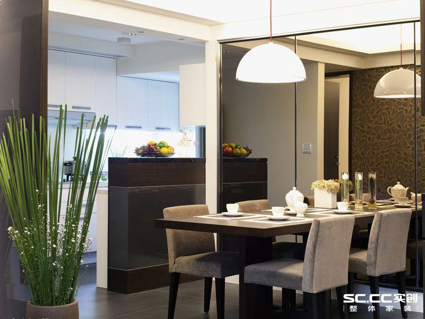 三居 简约 现代 客厅 卧室 餐厅 玄关 餐厅图片来自实创装饰晶晶在118平三居现代简约退休人生的分享