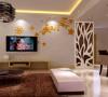 康桥金域上郡 117平三居室 现代简约风格 婚房装修案例 效果图-电视背景墙