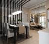 鑫苑现代城 两居室 79平米 简约风格 设计案例效果图--餐厅
