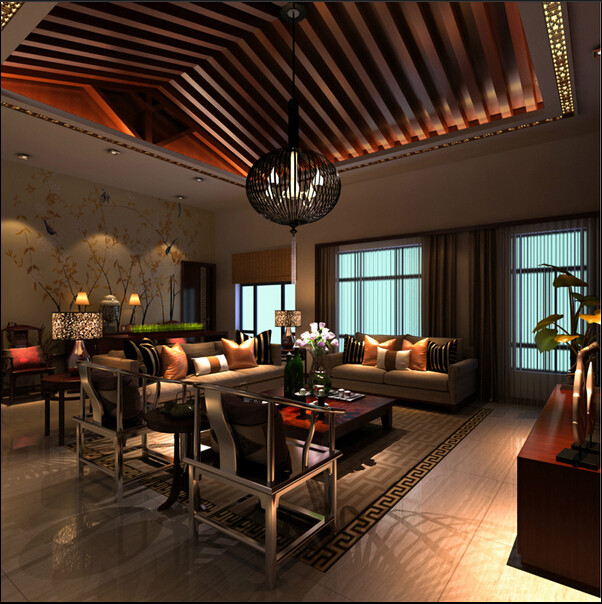 简约 别墅 中式 旧房改造 客厅图片来自成都V2装饰在芙蓉古城绽放的文化的分享
