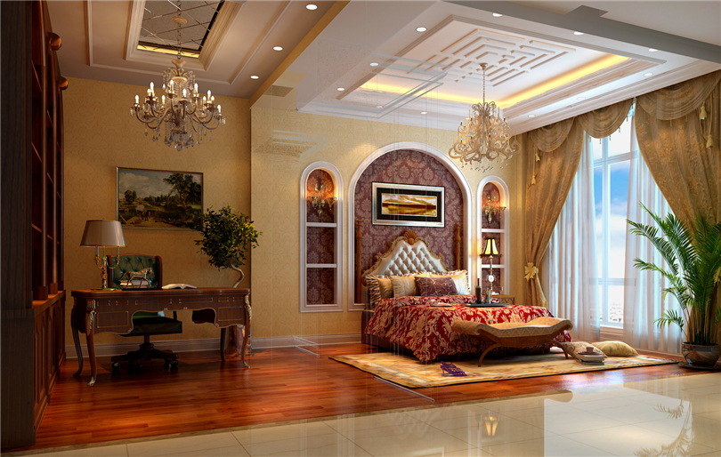 欧式 别墅 白领 收纳 80后 小资 卧室图片来自实创装饰完美家装在辉煌国际广场210平四居欧式古典的分享