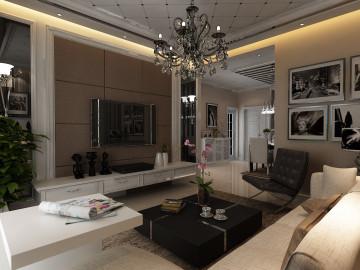 鑫苑现代城两居室简约风格设计
