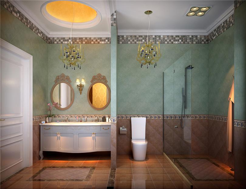 欧式 别墅 白领 收纳 80后 小资 卫生间图片来自实创装饰完美家装在辉煌国际广场210平四居欧式古典的分享