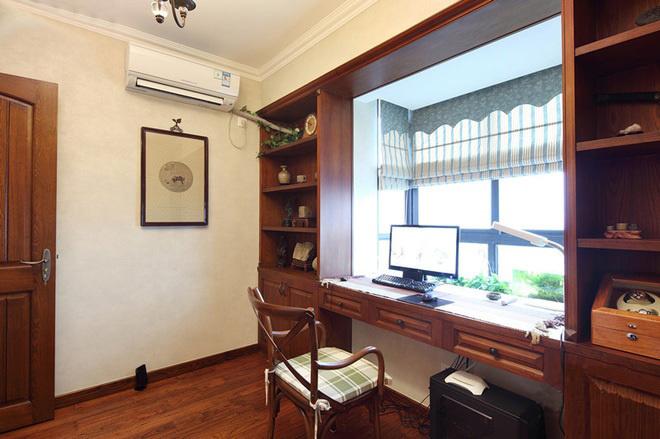 田园 二居 三居 混搭 旧房改造 80后 美式风格 上海装修 书房图片来自上海实创-装修设计效果图在上海150平米乡村美式风格的分享