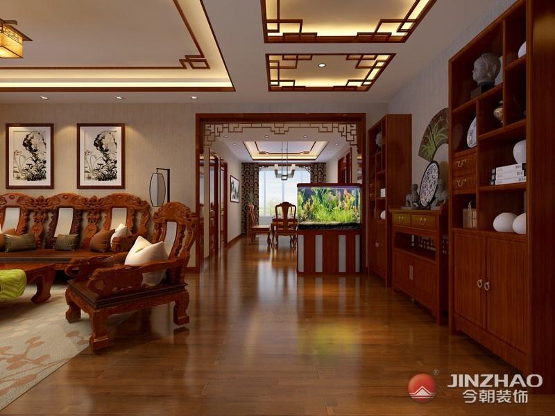 中式 客厅图片来自阿布的小茅屋15034052435在走进新中式家-省委劲松小区200平的分享