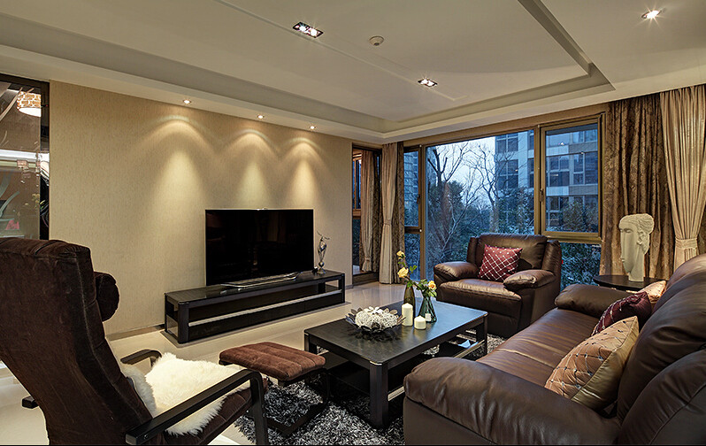 简约 三居室 荣国府 白领 80后 客厅图片来自成都V2装饰在舒适流行的家居风格的分享