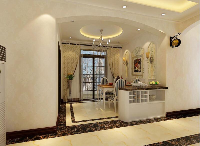 简约 欧式 三居 混搭 田园 白领 80后 英伦城邦 餐厅图片来自成都V2装饰在欧式粉嘟嘟可爱的分享