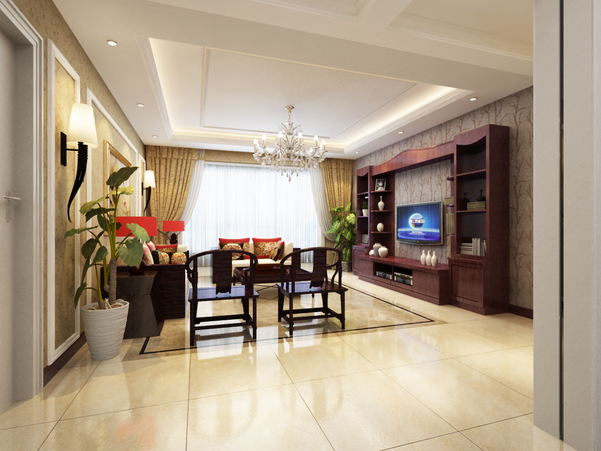 书房图片来自广州实创装饰朱建芳在越秀星汇文华160平新中式风格的分享