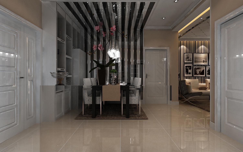鑫苑现代城 79平米 两居室 现代简约风 装修设计 餐厅图片来自郑州实创-整套家装在鑫苑现代城两居室简约风格设计的分享