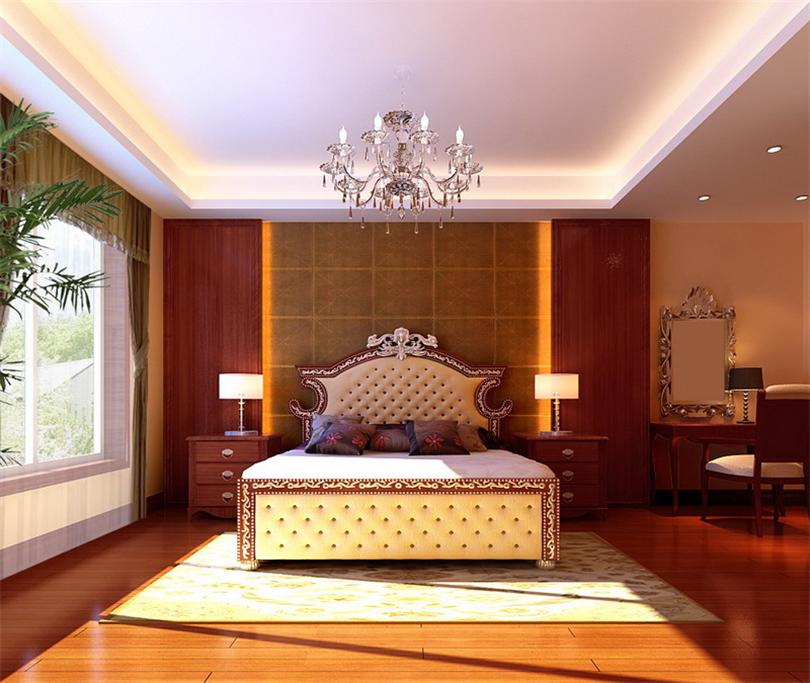 二居 白领 收纳 80后 小资 卧室图片来自实创装饰完美家装在清华园96平二居美式风格赏析的分享