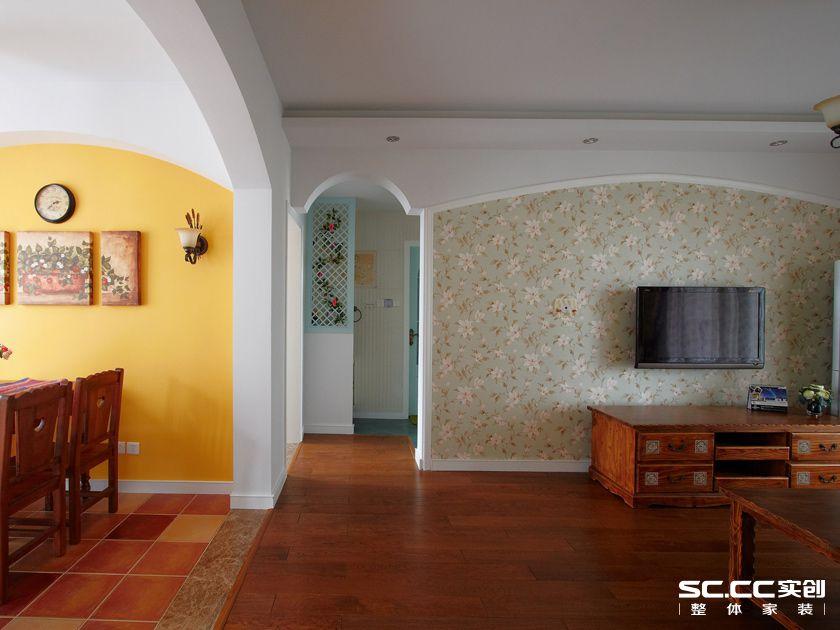 田园 二居 客厅图片来自实创装饰上海公司在乡村田园风格绿色空间的分享