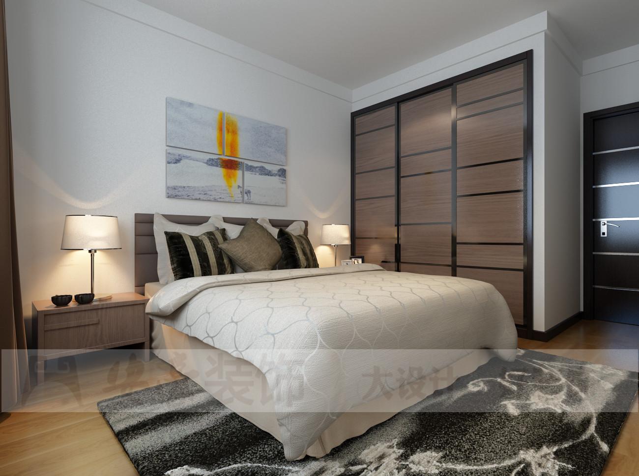 混搭 三居 白领 80后 小资 卧室图片来自安豪装饰在中央美域的分享
