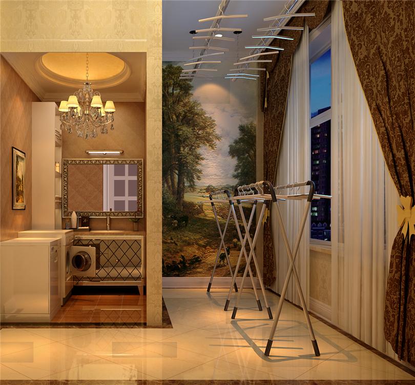 欧式 别墅 白领 收纳 80后 小资 玄关图片来自实创装饰完美家装在辉煌国际广场210平四居欧式古典的分享