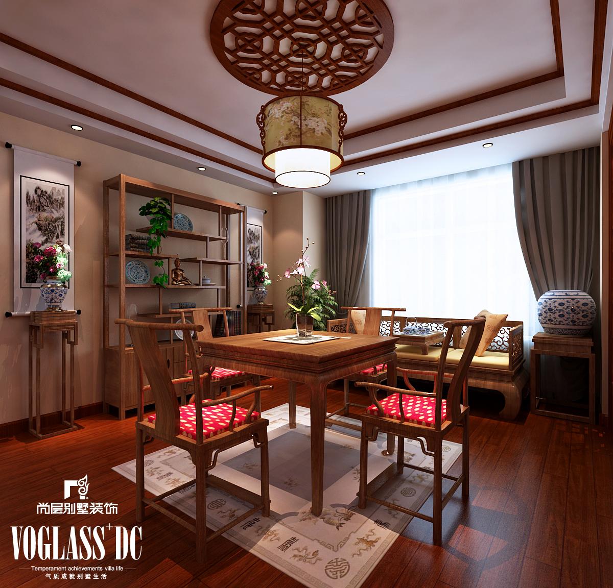 别墅 混搭 中式 天津尚层 餐厅图片来自Spencer丶nuzzi在博轩园别墅的分享