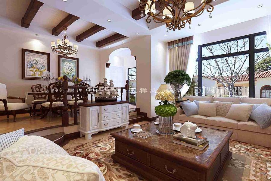 别墅 美式 实创 客厅图片来自快乐彩在别墅喜山美式乡村装修的分享