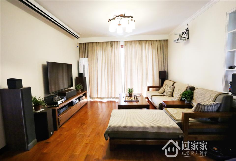 小资 80后 旧房改造 收纳 白领 三居 客厅图片来自过家家装饰在新浩城浩利阁-现代简约 实景图的分享