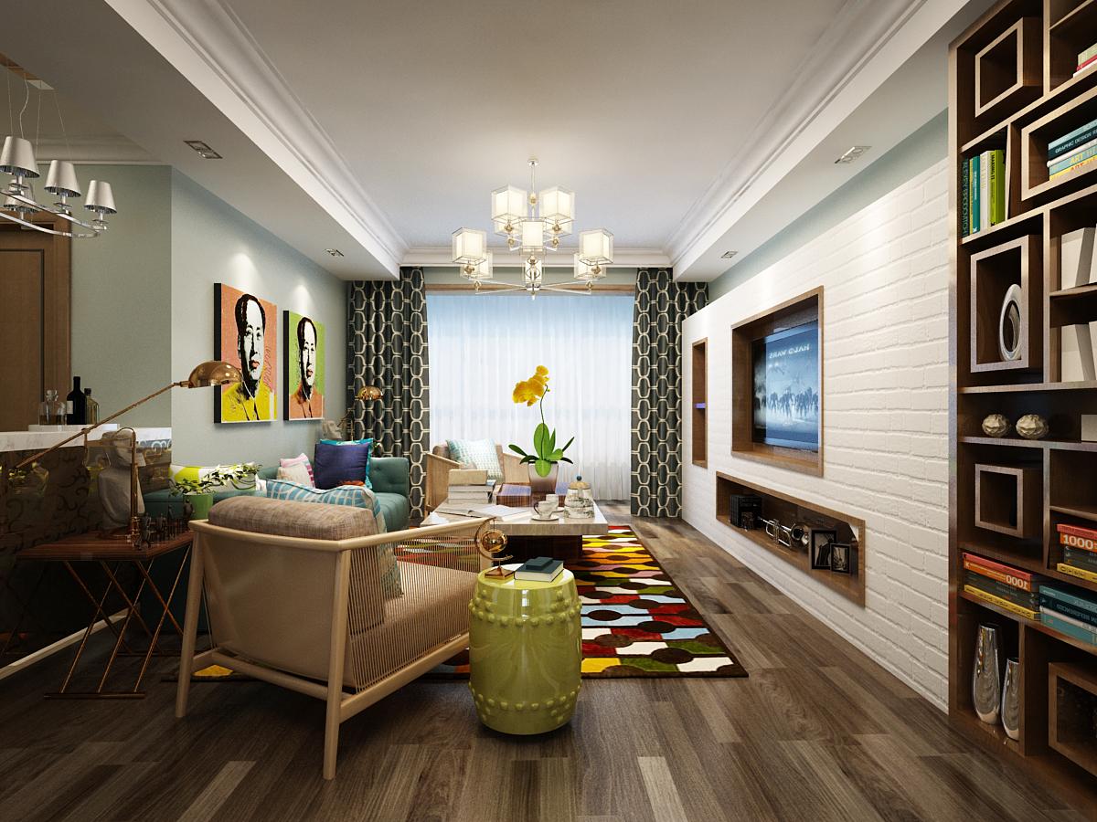 客厅图片来自广州实创装饰朱建芳在岭南雅筑116平田园风格的分享