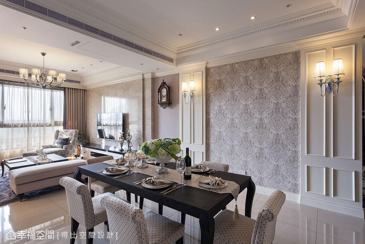 新古典 美学 收纳 小资 简约 餐厅图片来自幸福空间在132平新古典美学的中庸之道的分享