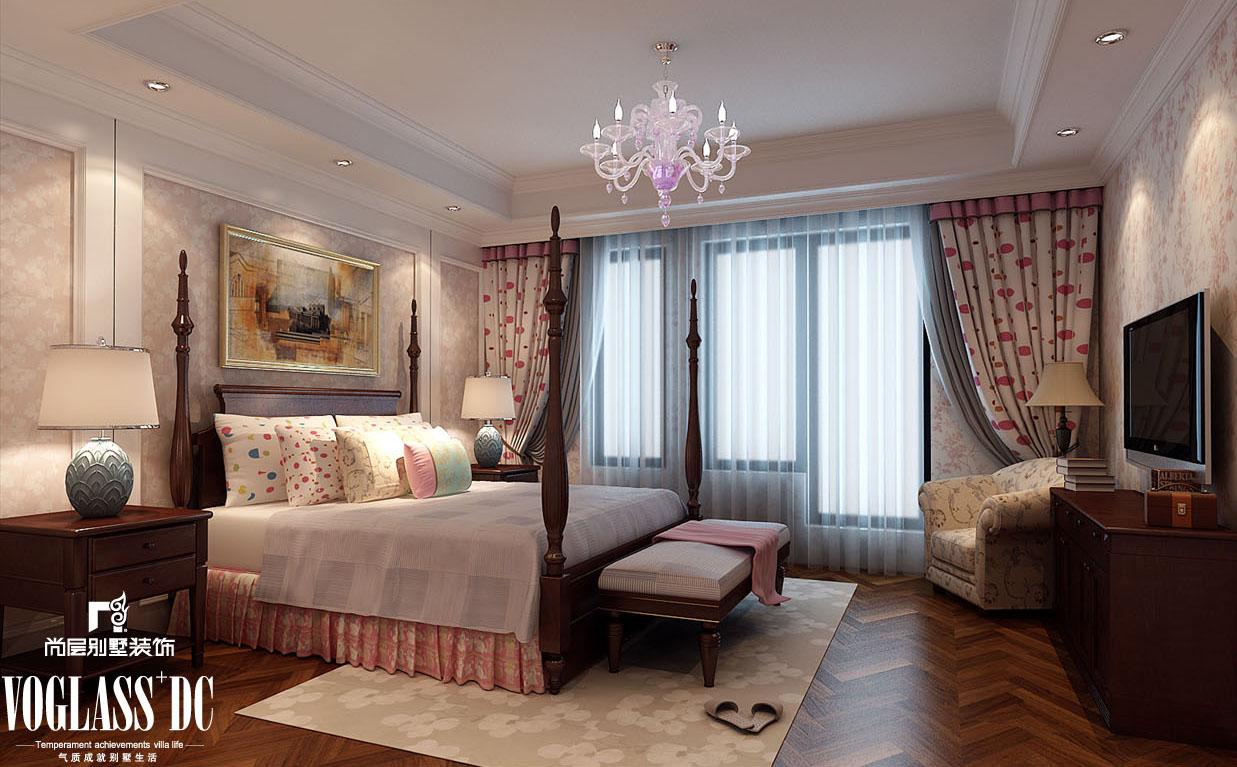 欧式 别墅 天津尚层 卧室图片来自Spencer丶nuzzi在复地温莎堡的分享