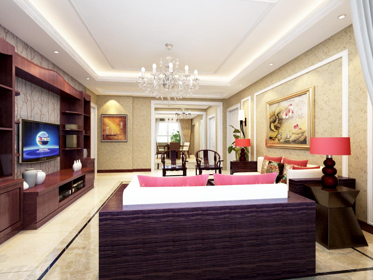 客厅图片来自广州实创装饰朱建芳在越秀星汇文华160平新中式风格的分享