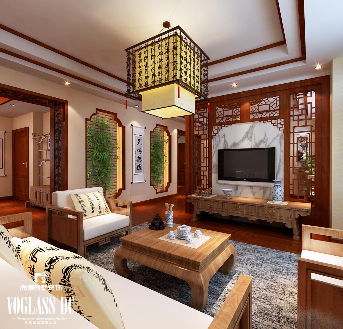 别墅 混搭 中式 天津尚层 客厅图片来自Spencer丶nuzzi在博轩园别墅的分享