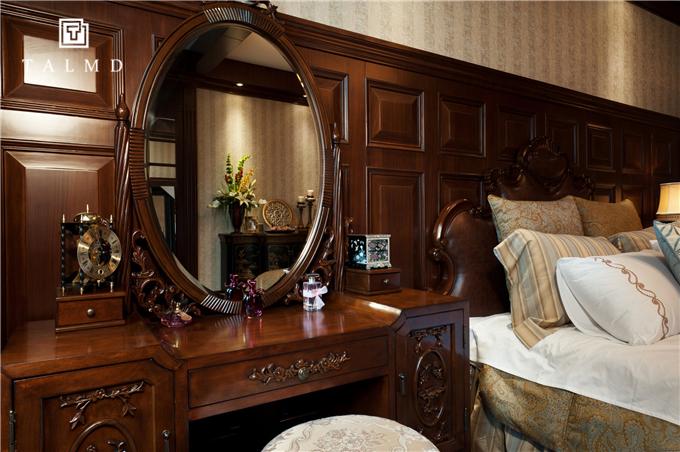 新中式 四居室 家具定制 整屋定制 旧房改造 卧室图片来自TALMD图迈家居在【TALMD案例】新中式·奥体紫薇园的分享